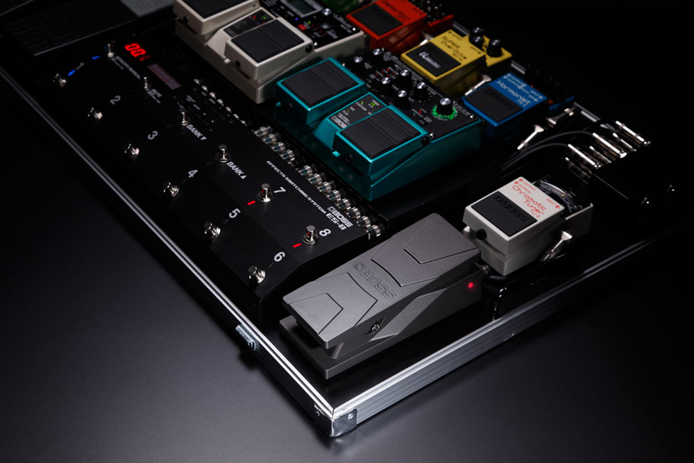 BOSS PW-3 Wah Pedal on a Pedalboard
